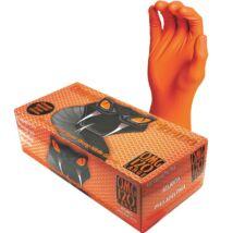 """Black Mamba  Orange Nitril Szerelőkesztyű ,,L""""-es méret 100db"""